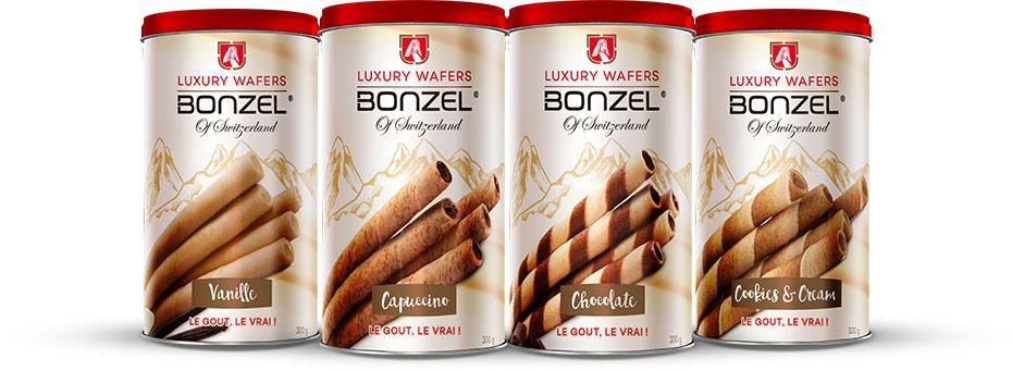 Bonzel Luxury Wafers Packaging